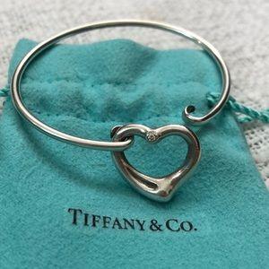 Tiffany & Co. Jewelry - Tiffany & Co Open Heart Diamond Bangle
